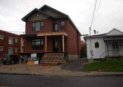 Construction d'un duplex - Victoriaville, Québec