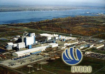 Fondation salle de cuve pour Norsk Hydro - Bécancour, Québec